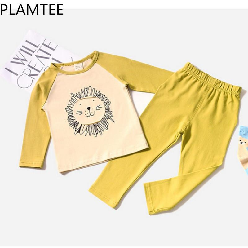 5d63965adf146 PLAMTEE Children Pajamas 2018 New Spring Cartoon Long Sleeves Baby Home  Suit Comfortable Cute Children Clothing 2 6Y Minecraft Pajamas For Boys  Minecraft ...