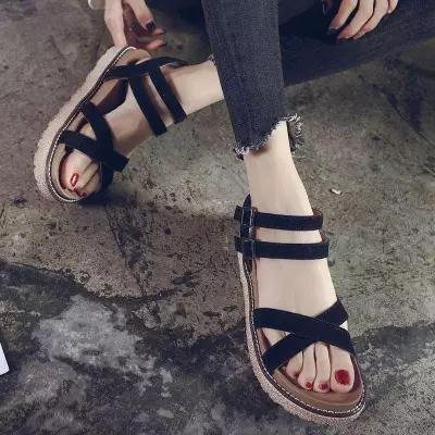 3387c36b7e80d Sandals Female Summer 2018 New Korean Fashion Simple Student Wild Women S Shoes  Sandals Women S Tide Dansko Sandals Tall Gladiator Sandals From Annawawa