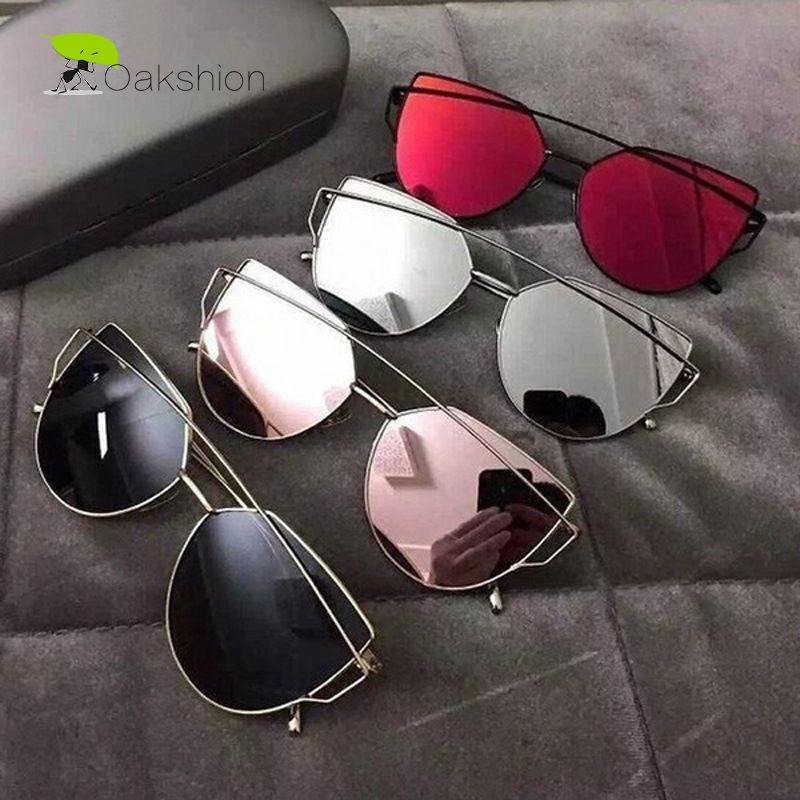 bbb388e06f2 2017 New Fashion Cat Eye Sunglasses Women Brand Designer Mirrored ...