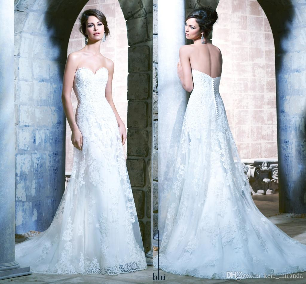 080fdf45148 Made Plus Size Exquisite Lace Appliques Beads Sequin Mermaid Wedding Dresses  Custom Sweetheart Sweep Train Tulle Bridal Gowns DH4202 Modest Wedding  Dresses ...