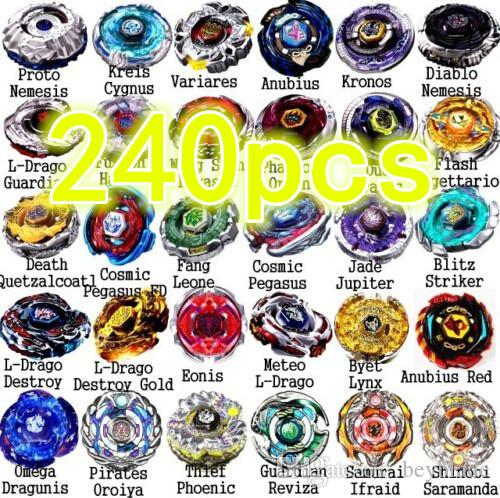 New arrive! wholesale 240 pcs Rapidity Beyblade 4D Beyblade Metal Fusion  Beyblade 48 models mix Spin Top Toy for Gifts
