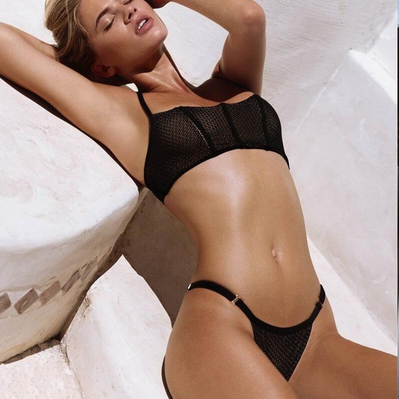 6380d543874c5 2019 Sexy Bikinis 2018 Mujer Push Up Bikini Set Swimsuits Separate Black  Bikini High Waist Tankini Swimwear For Women Swimming Suit From Beenni