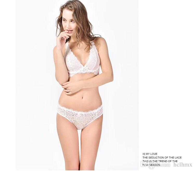 Cheap Wholesale Brassiere New Sexy Style Malachite Green Eyelash Lace Lingerie V Type Triangle Cup Wide Edge Bra For Sexy Lady and Panty