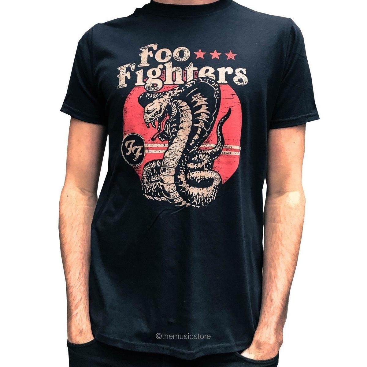 san francisco 11d26 0fa3f Foo Fighters T-Shirt Cobra Snake Offizielle schwarze Herren Dave Grohl  Sonic Highways
