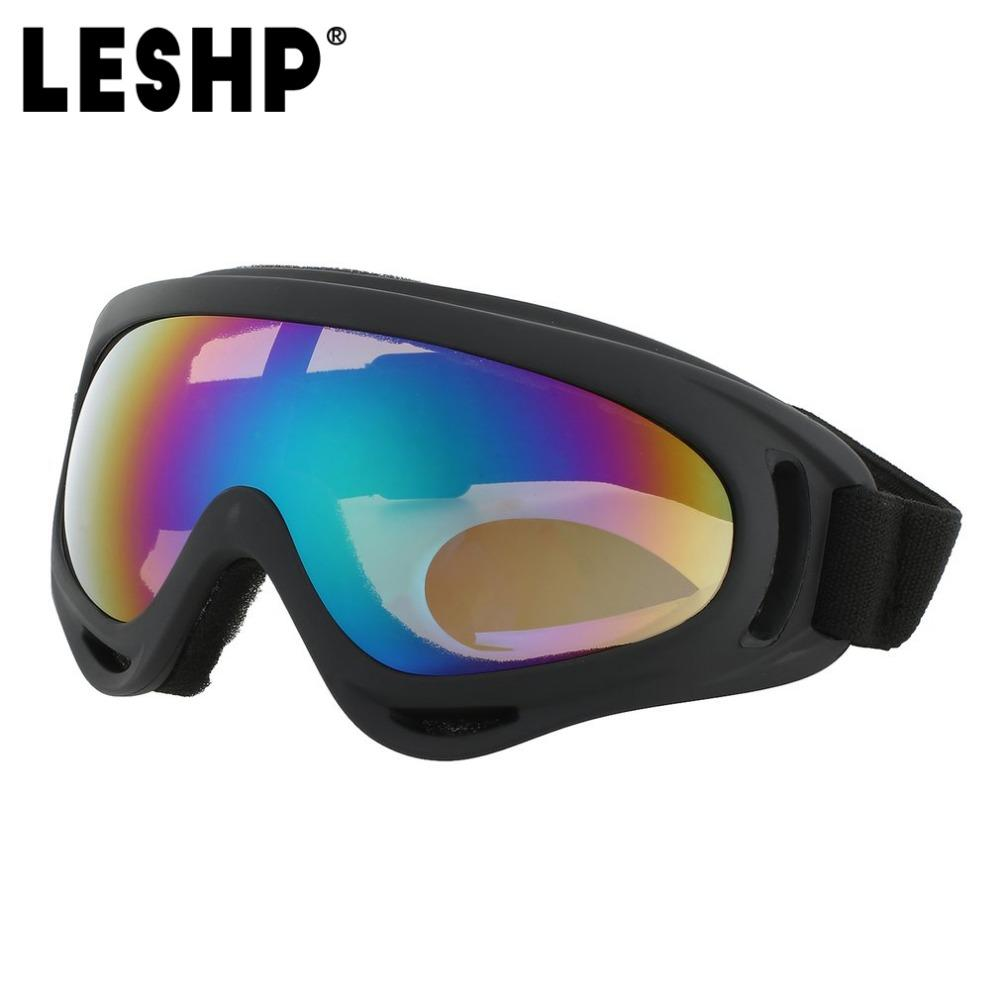 Leshp Outdoor Skiing Protective Goggles Bendable Windproof Ski Cycling Glasses Fog-proof Skiing Goggles With Elastic Headband Workplace Safety Supplies Safety Goggles