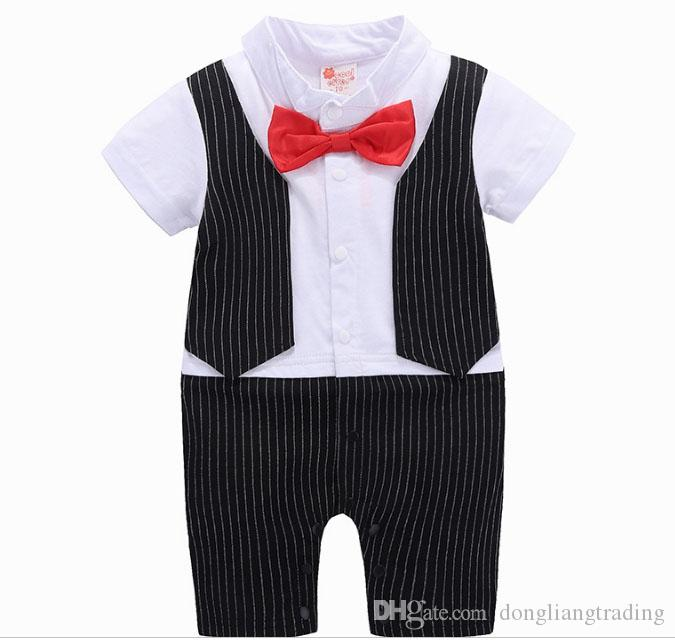7c1a6cdec 2019 2018 Sale Limited Baby Romper Gentleman Boys Rompers With Bow ...