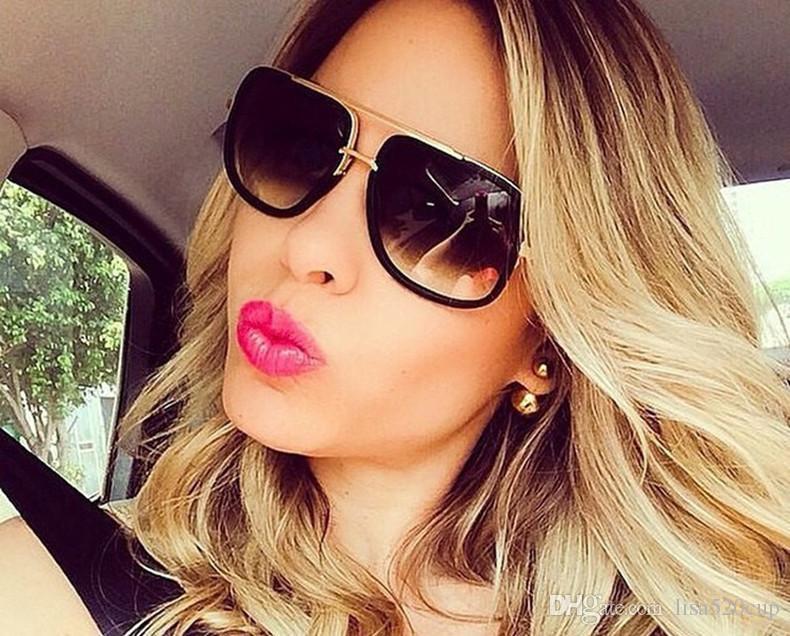 Compre 2018 Dpz Marca Homens Mulheres Óculos De Sol Grande Quadro Retro  Quadrado De Alta Qualidade Uv400 Óculos De Proteção Ditas Marcas De Luxo  Com Caixa ... 5cb07e4ee8
