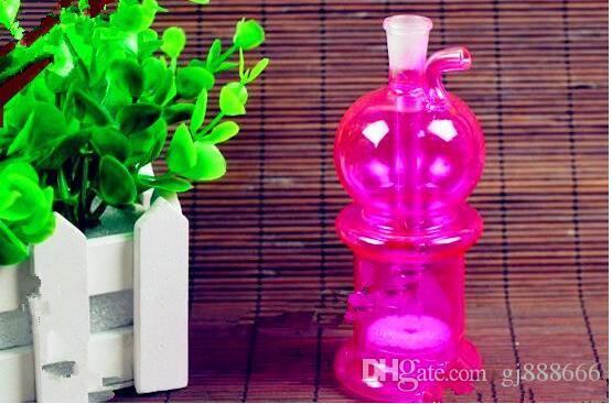 Doppel-Wasserflasche, Großhandel Bongs Ölbrenner Rohre Wasserpfeifen Kawumm Bohrinseln Raucher Kostenloser Versand