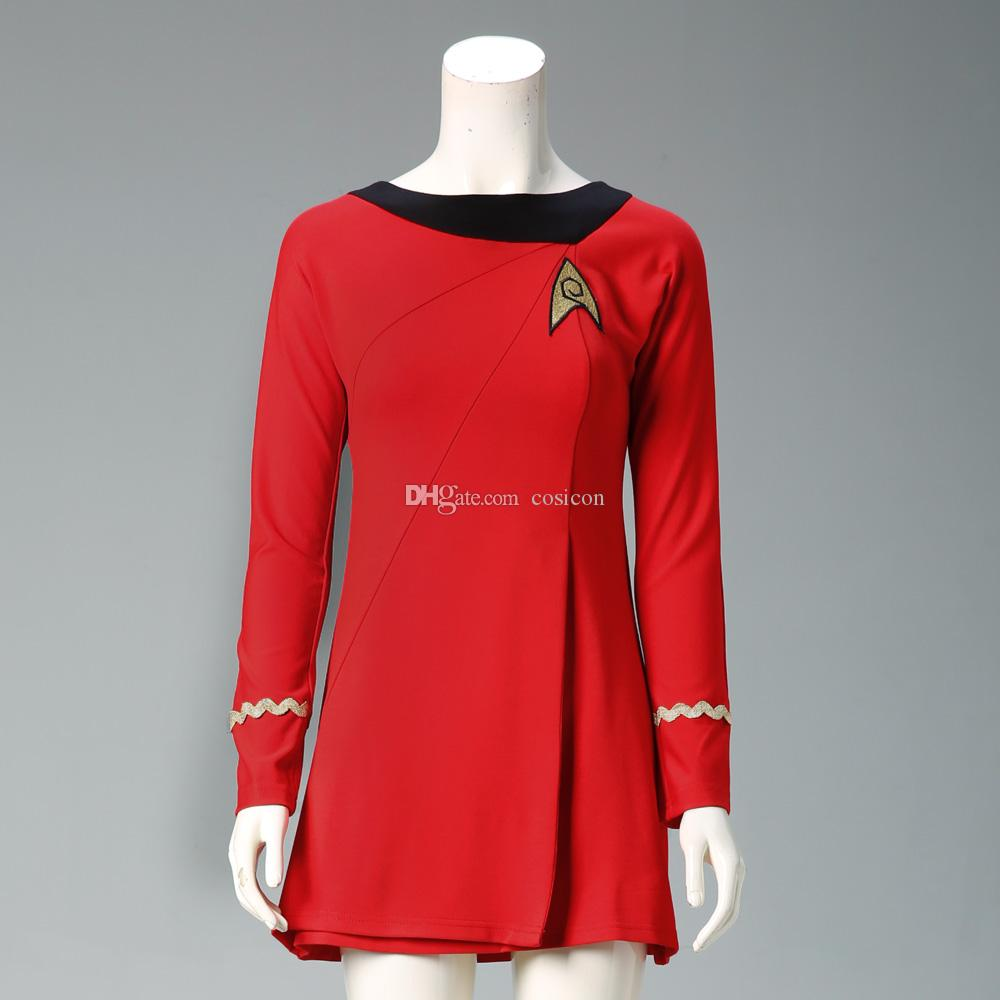 Star Trek Costumes Cosplay Star Trek Female Duty Uniform Red Dress Cosplay Costumes For Halloween