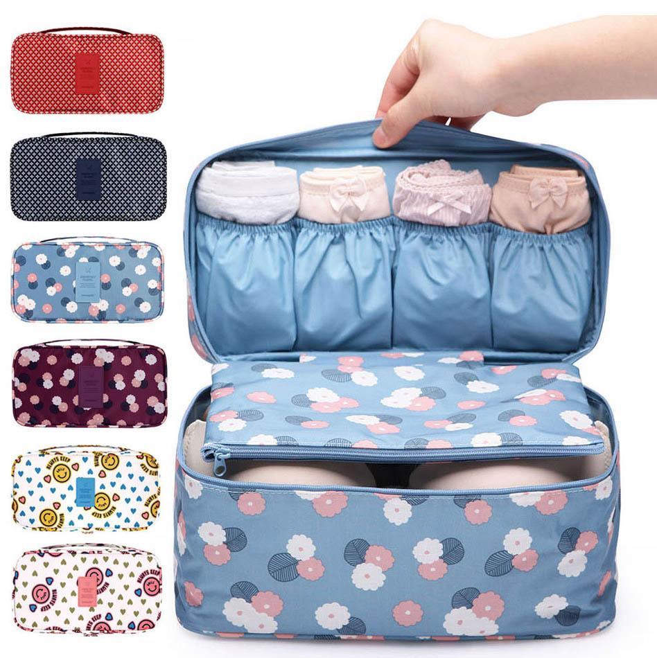 509110db509c Women Underwear Organizer Bra Storage Bag Cosmetic Makeup Pouch Travel bag