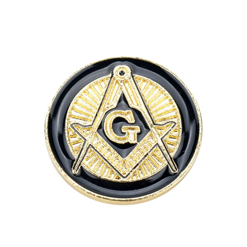 2018 Mqchun New Free Masons Badge Metal Craft Masonic Lapel Pin Pins