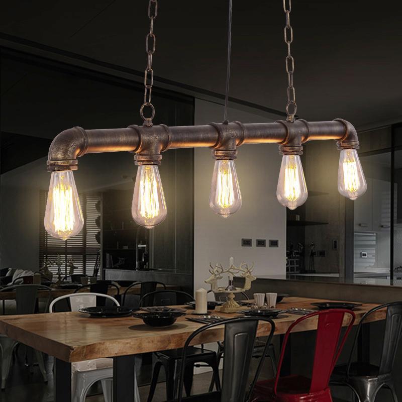 restaurierung industrieller pendelleuchten deckenleuchte pendelleuchte großhandel loft vintage edison pendelleuchten personalisierte bar beleuchtung industrielle wasserrohr pendelleuchte e27cafe lampen von