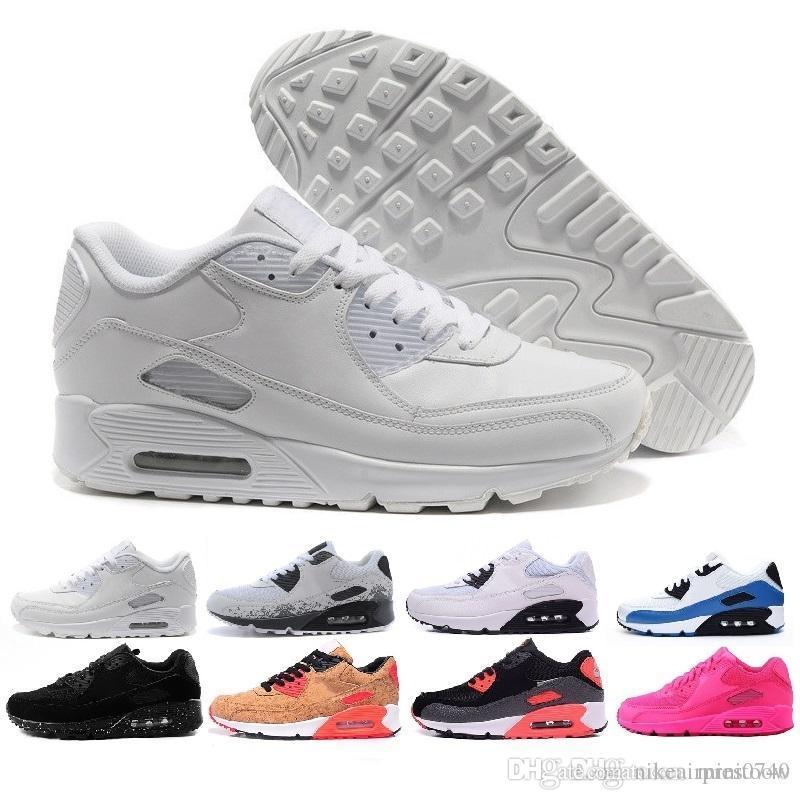save off 01f33 e3fc1 Compre Nike Air Max 90 95 97 Vapormax Hombres Zapatillas Zapatos Classic 90  Hombres Y Mujeres Zapatos Casuales Entrenador Deportivo Air Cushion 90 ...