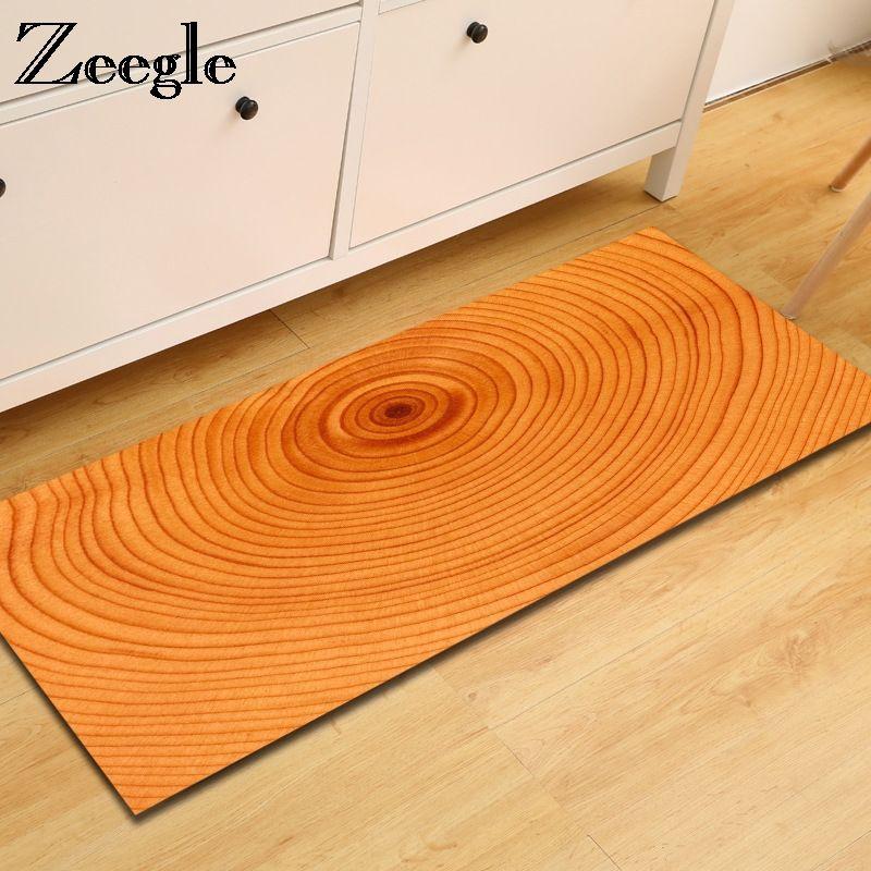 Zeegle Floor Mat Carpet For Living Room Kitchen Carpet Wood Painting