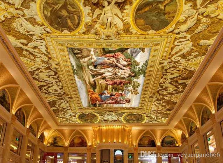 3d ceiling murals Angel slave wall papers home decor wallpaper 3d stereoscopic ceiling murals