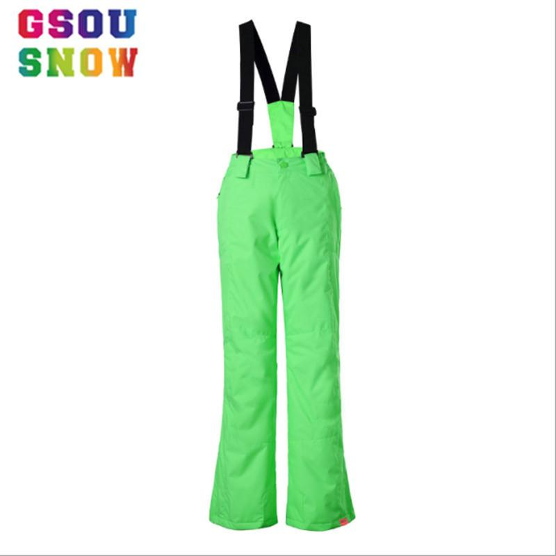 ce7853b0718b Wholesale- GSOU SNOW Kids Ski Pants Waterproof Windproof Children ...