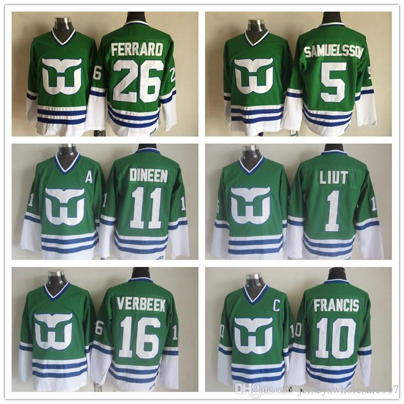 a19aebd23 Vintage Hartford Whalers Hockey Jerseys 10 Ron Francis 5 Ulf ...