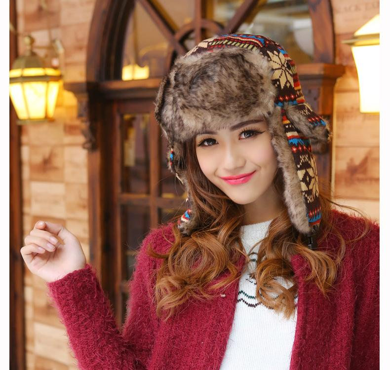 e6370745cc9e0d 2019 Women Warm Knitted Trapper Beanies Ear Plugs Snow Faux Fur Hunter Hat  Winter Outdoor Ski Windproof Hat Cycling Caps Beanies FFA956 From ...