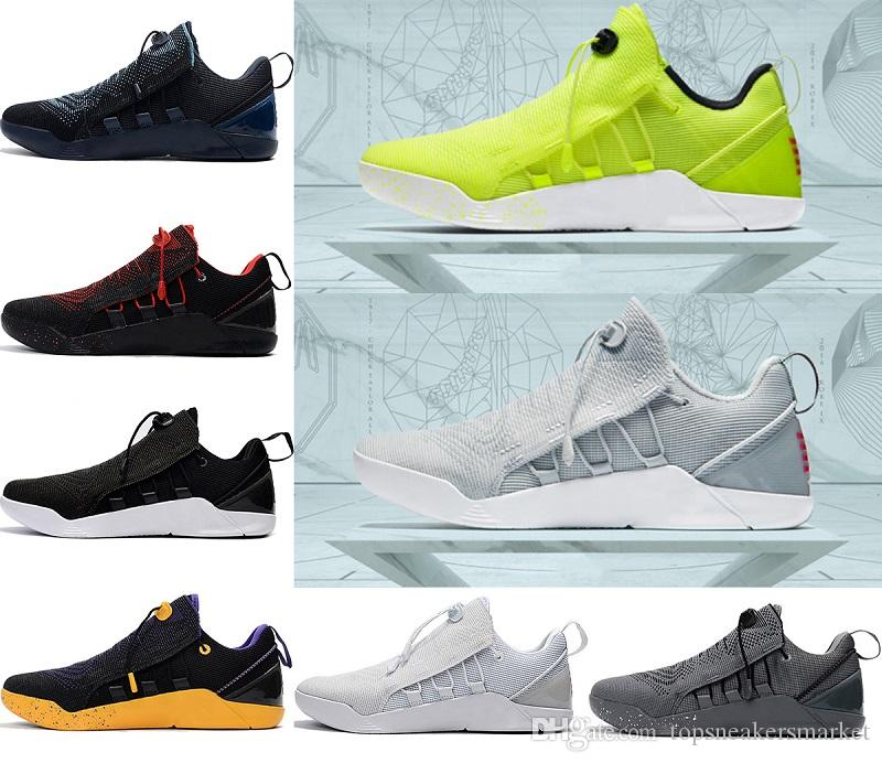 the latest f6767 69458 (with box) 2018 KOBE A.D. NXT Basketball Shoes KB 12 Mambacurial Mens  Sneakers Sports Running Shoes Oreo black white Fluorescence Eur 40-46