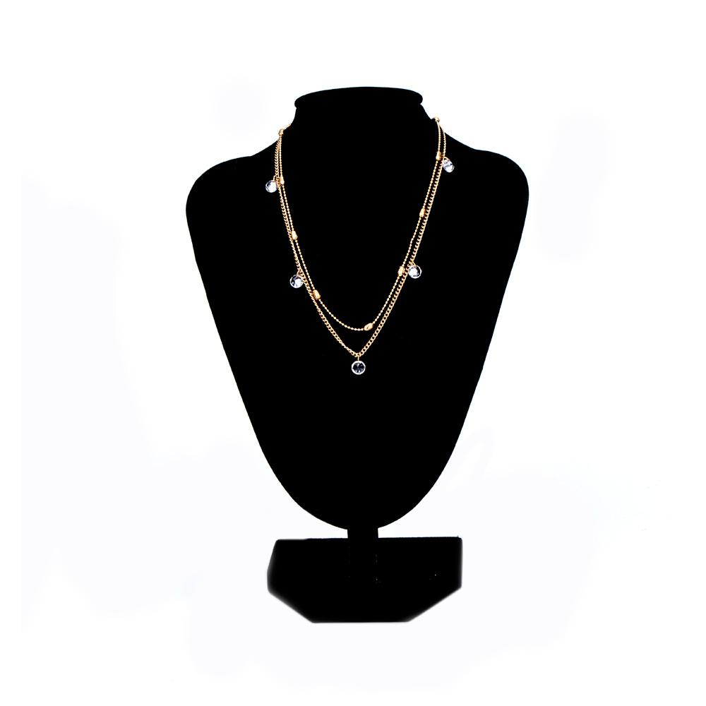 f51422bfc9 1 Pcs New Fashion Crystal Rhinestones Multi-Layer Gold&Silver Color  Clavicle Necklace For Women's Fashion Jewelry Gift