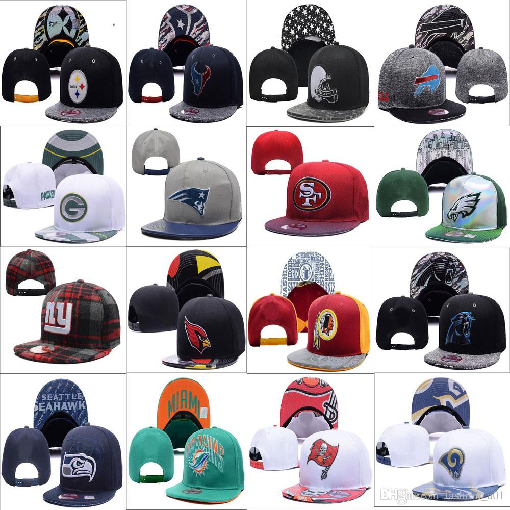 Wholesale New Football Teams Baseball Caps New Adjustable Snapbacks Sport  Hats Free Drop Shipping Album Available Custom Fitted Hats Design Your Own  Hat ... d3da889ff