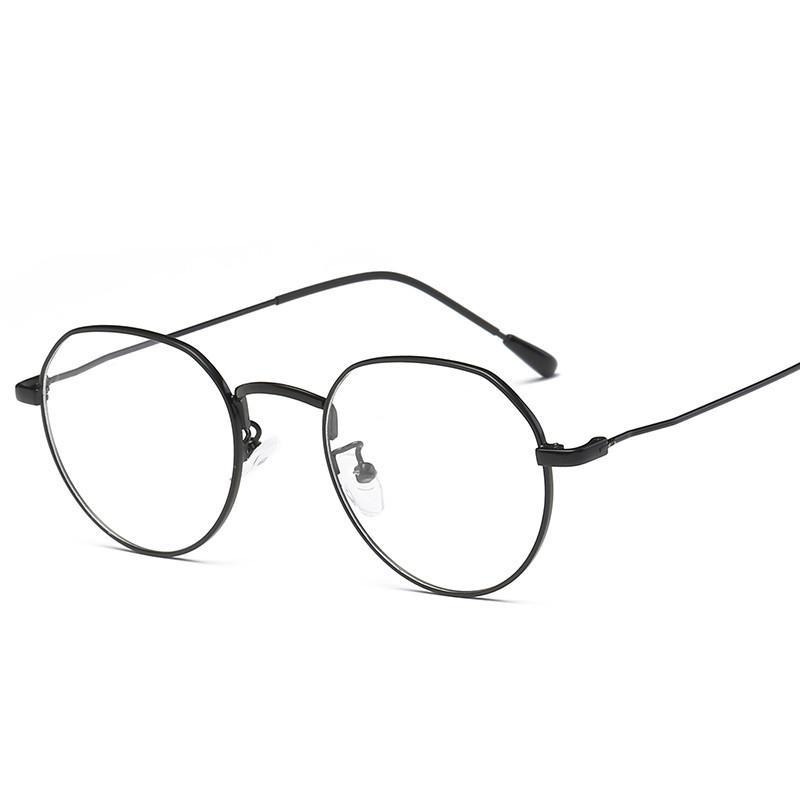 d03f60bdf Compre Clássico Óculos De Armação De Metal Redondo Para As Mulheres  Designer Lentes Opticos Mujer Óculos Ópticos Do Vintage Unisex Quadro Claro  212 De ...