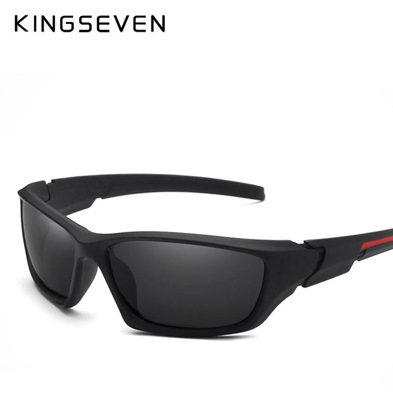 19f61f88f6578 Compre X Kingseven Marca Clássico Óculos De Sol Dos Homens Óculos  Polarizados Condução Original Acessórios Óculos De Sol Para Homens    Mulheres Oculos De ...