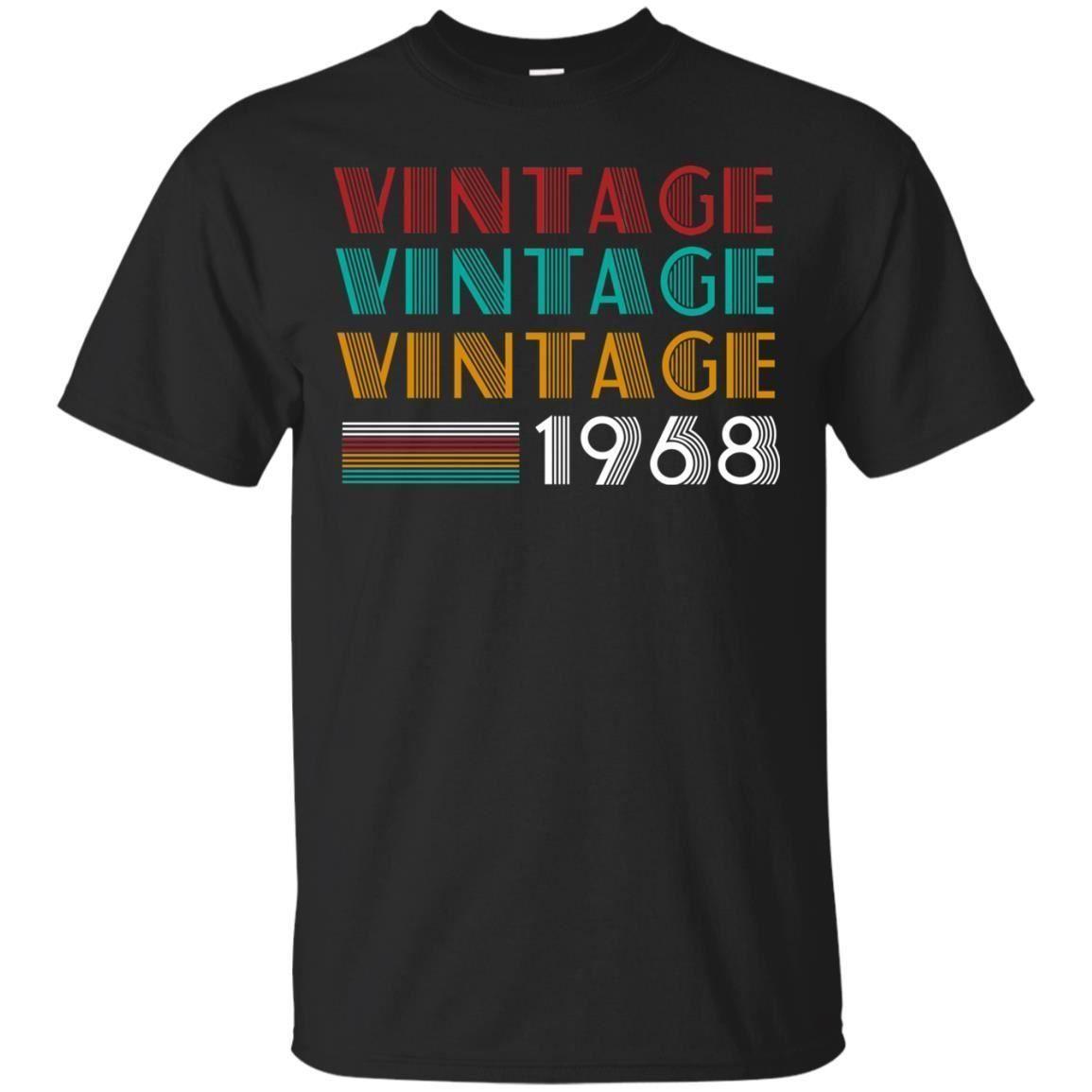 5b119f0c38f77 Compre Retro Vintage Clássico Nascido Em 1968 50th T Shirt O Melhor  Presente Para 50 Anos De Idade Atacado 100% Algodão Legal Bonito Camisas De  T Homem 2018 ...