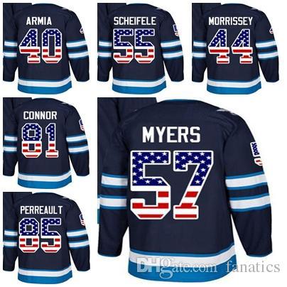 4d0d75a165fbf 2019 Cheap 2018 Men Women Kid Winnipeg Jets USA Flag Joel Armia Josh  Morrissey Mark Scheifele Kyle Connor Mathieu Perreault Myers Hockey Jerseys  From ...
