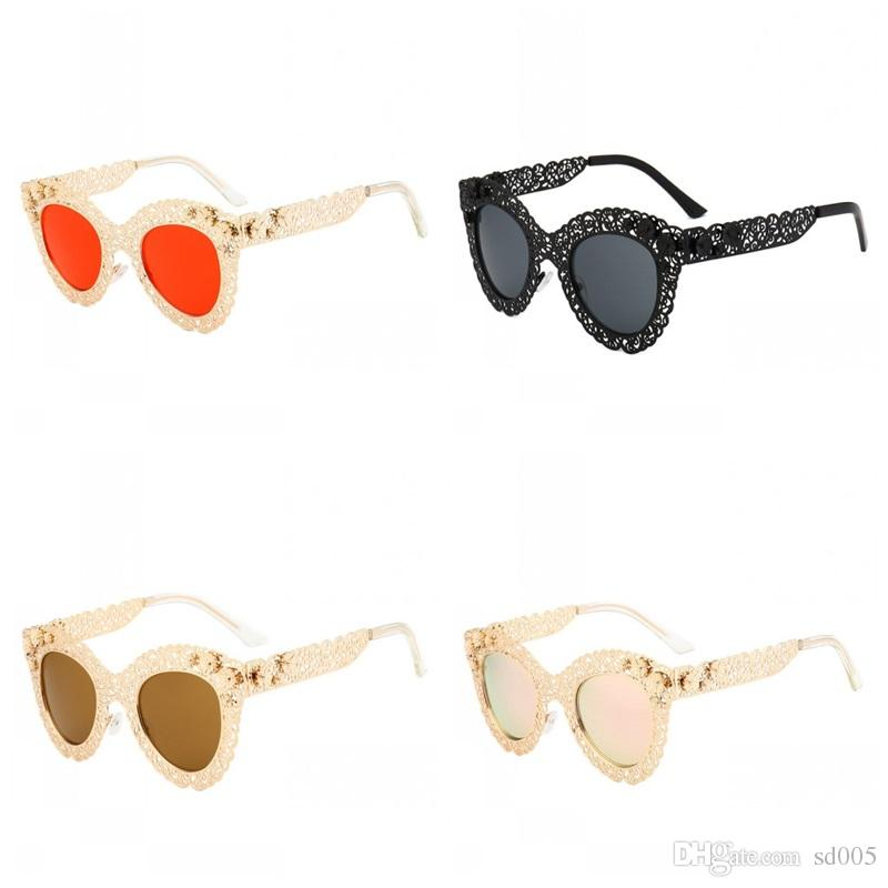 1e8811964a14 Hollow Out Sun Glasses For Women Vintage Style Oversize Lens Sunglasses  Luxury Designer Fashion Frame Ladies Eyeglasses New 27bc ZZ Eyewear Designer  ...