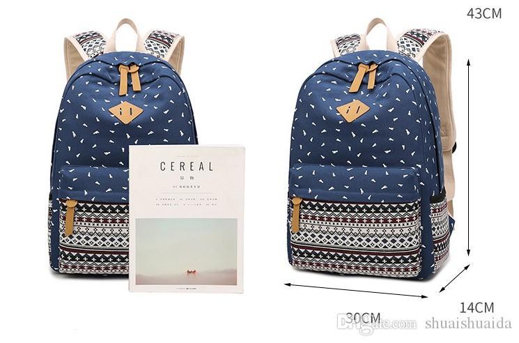 Школьный Canva + ткань Оксфорд рюкзак Рюкзак досуг мода полосатый рюкзак открытый дорожные сумки большой емкости ранец A37
