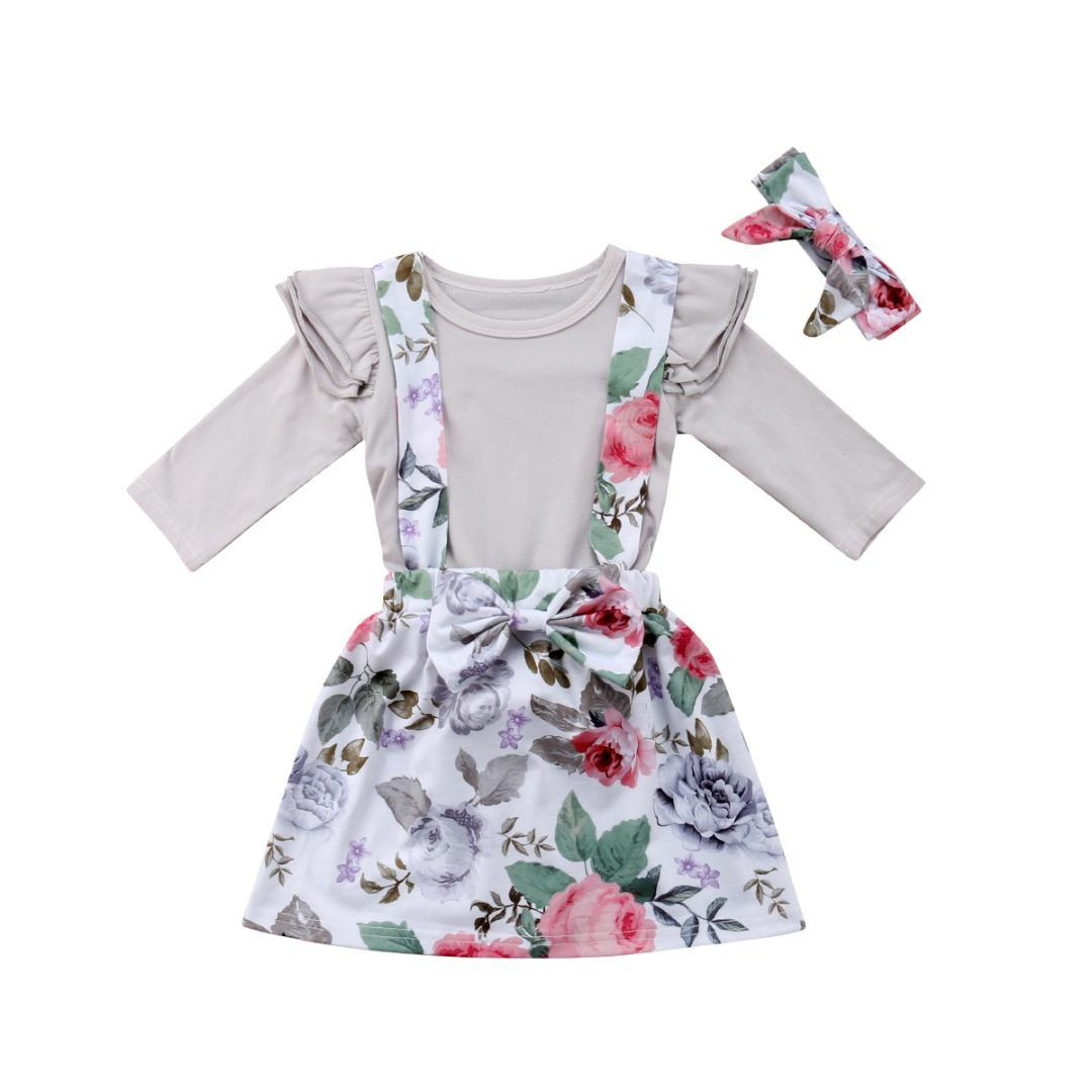 1b552452928f 2019 Emmababy New Cute Kids Baby Girl Floral Romper Jumpsuit Party Skirt  Dress Outfits Set Clothes From Callshe