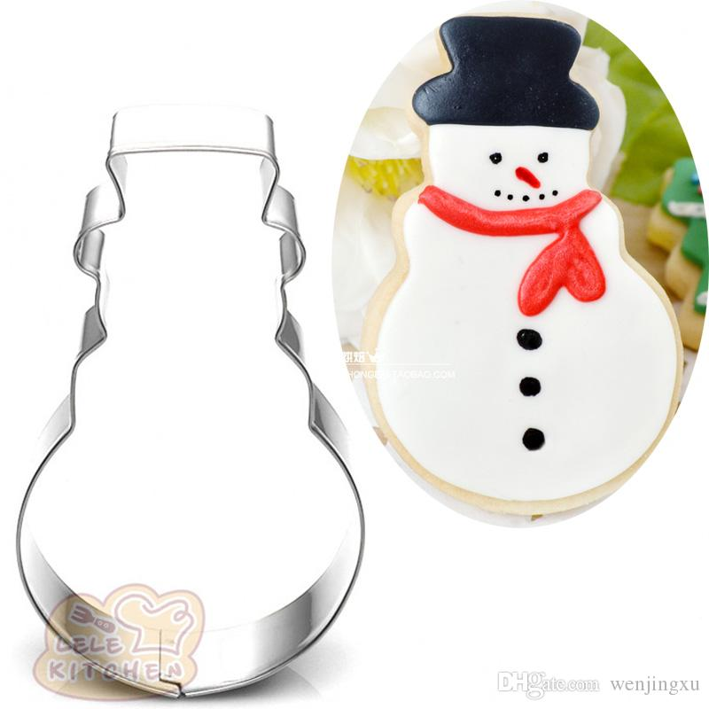 snowman Metal cookie cutter xmas biscuit tool Fruit vegetable die cut Sushi stamp bread mold cupcake topper cake pastry tools