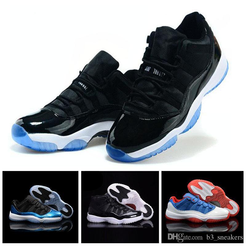 promo code 23928 d4cbb Compre Venta Caliente Nike Air Jordan 11 Retro Para Hombre De Las Mujeres  Zapatos Casuales Toro Negro Blanco Rojo Bred Royal Blue Zapatos Nuevos  Zapatos ...