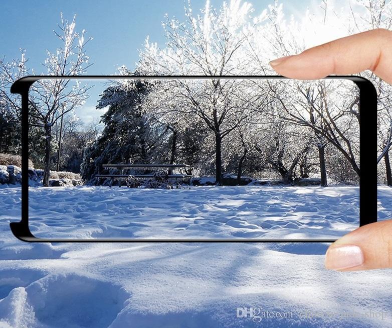 Case Friendly Glass Temperato 3D curvo Samsung Galaxy Nota 8 S9 Plus S8 Plus S7 Edge / No Pacchetto al dettaglio