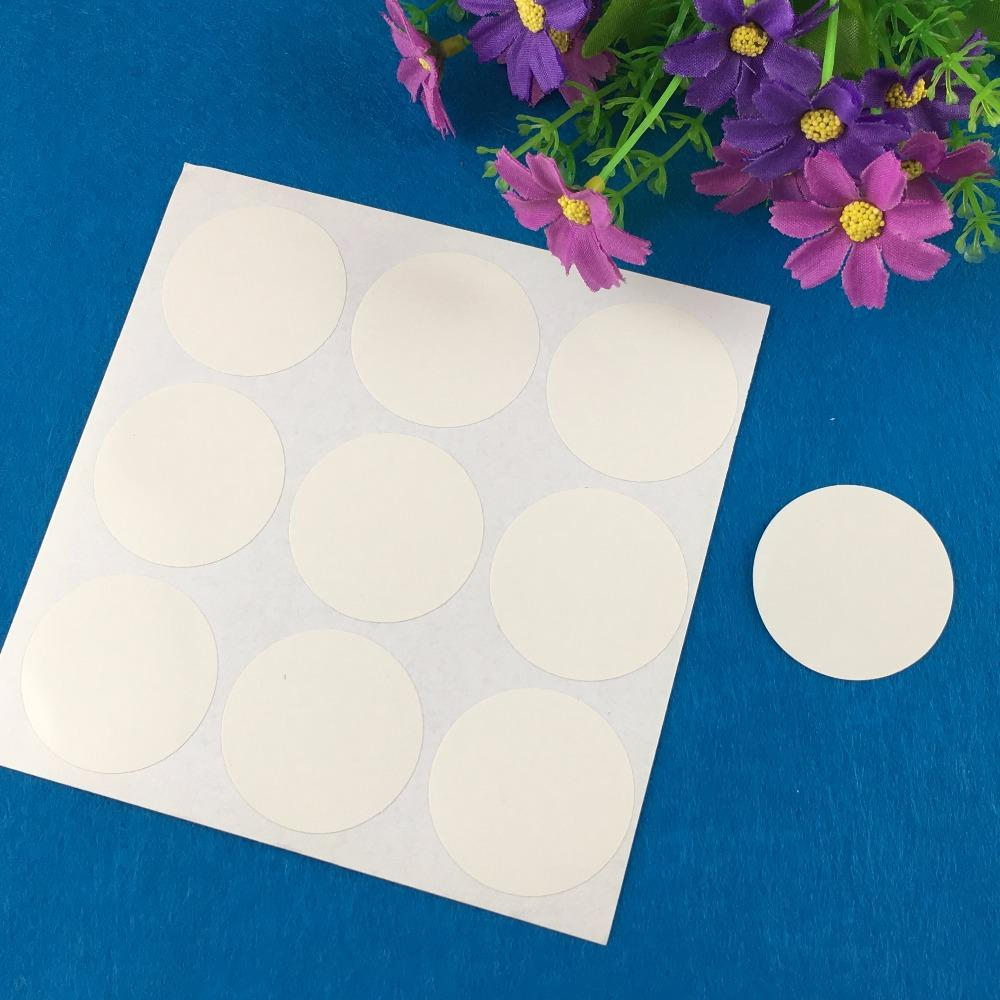 300PCS/Lot 4cm Round White Labels Paper Blank Sticker Labels Self-Adhesive Stickers For Jewelry/Boxes/Baking/Bags/book/car/toys