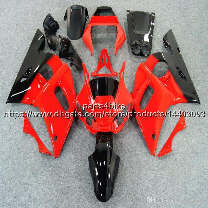 23colors + 5Gifts ABS rote Verkleidung für Yamaha YZF-R6 1998-2002 YZF R6 98 99 00 01 02 YZFR6 Motorrad Plastic Karosserie