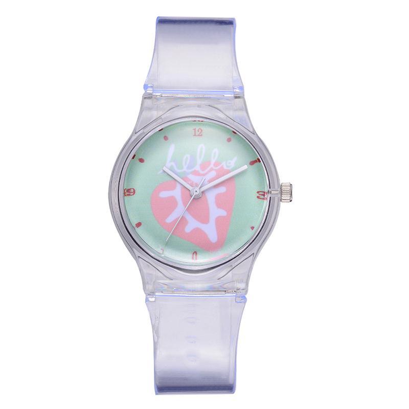 f8ea316b5eb Compre Bonito Transparente Crianças Relógios De Luxo Mulheres Assista Marca  Sports Silicon Quartz Relógios De Pulso Novidade Relógio Presentes Dos  Desenhos ...