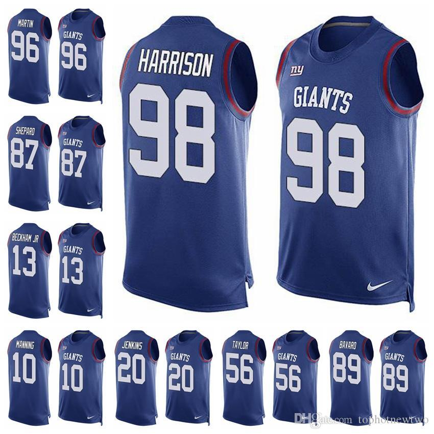 2018 New York Limited Football Jersey Giants Blue Player Name   Number Tank  Top 10 Eli Manning 13 Odell Beckham Jr.26 Saquon Barkley From Jerseyptb8 9ca77cf55