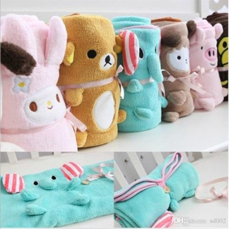 Coral Velvet Blanket Foldable Cartoon Animal Shape Blanketry For Children Adults Office Afternoon Nap Blankets Super Comfortable 12xy Y Z