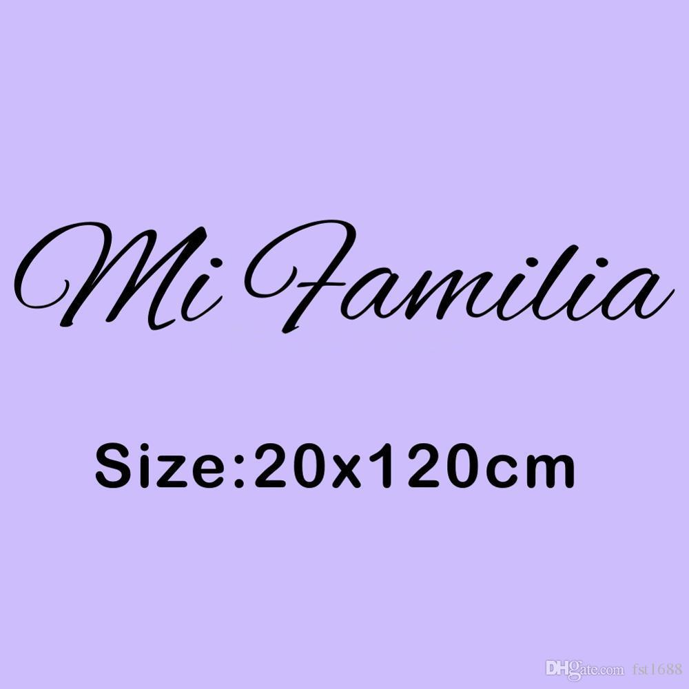 Spanish Art Words Sticker My Family Quotes Mi Familia DIY Vinyl Decal Bedroom Removable Wall Mural Living Room Home Decoration