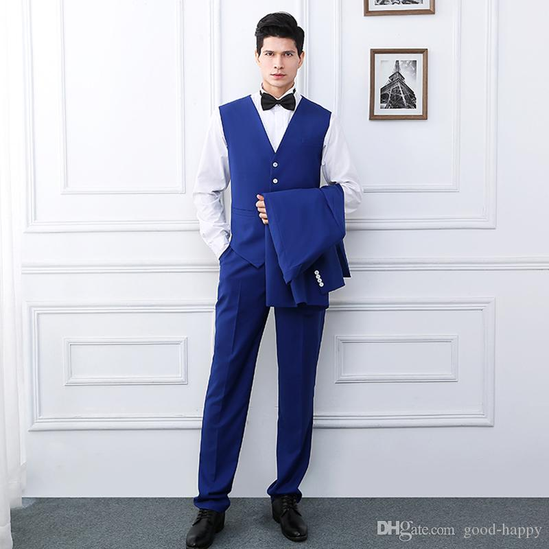 Smoking sexy dello sposo di due bottoni dello Sposo di stile popolare popolare degli uomini Vestiti convenzionali di affari Uomini Vestiti di cena di promenade su ordine rivestimento + pantaloni + legame + vest NO; 86