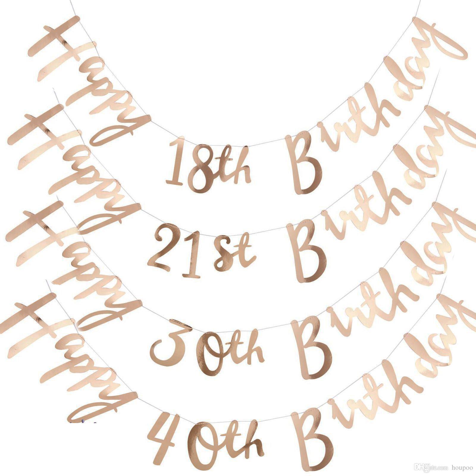 New Milestone Happy Birthday 18th 21st 30th 40th 50th 60th 70th ...