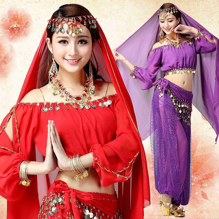 Acquista Costume Delle Donne La Danza Bollywood Indiana Delle Donne Indiane  Danza Del Ventre Bollywood Costumi Indiani Adulti A  25.1 Dal Alberty  397cffc773a