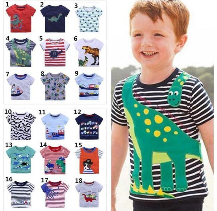 Bambini Ragazzi T-Shirt Polo a Righe T-shirt a manica corta 100/% cotone logo stampato T