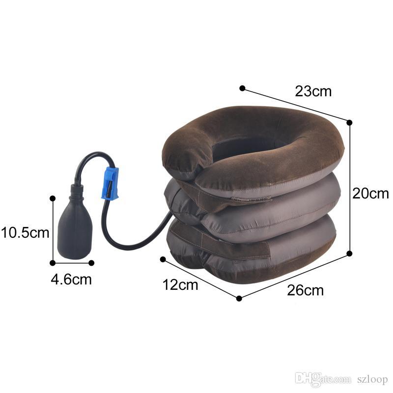 Air Cervical Cou Traction Doux Dispositif De Brace Unité pour Maux De Tête Haute Qualité Tête Arrière Épaule Douleur Au Cou Santé Soins En Gros 0613012