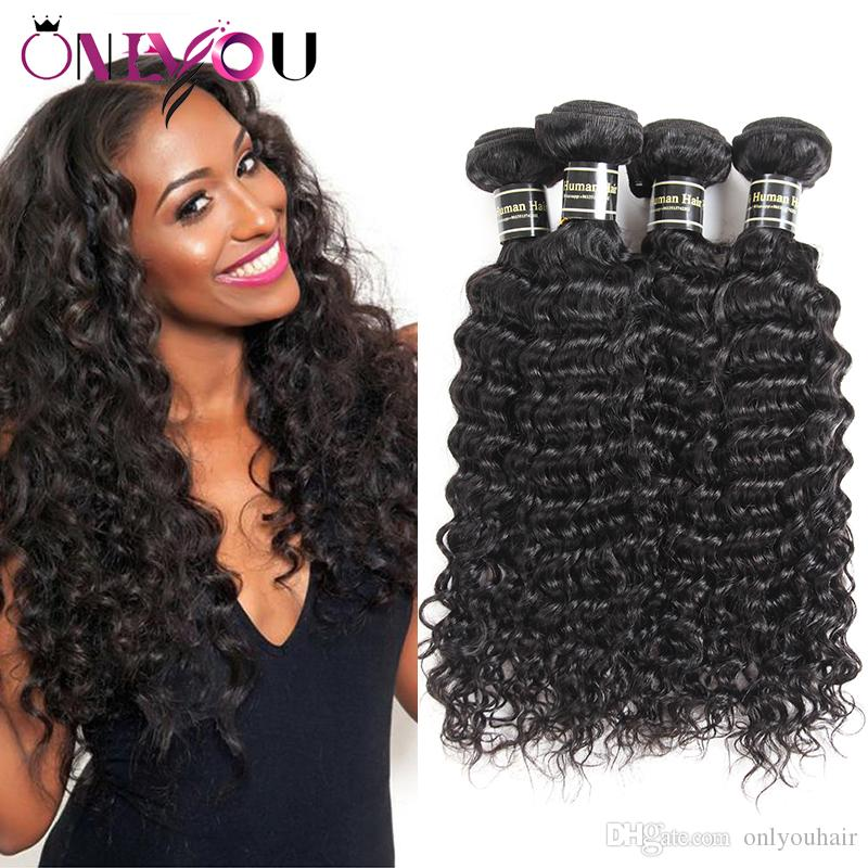Brazilian Deep Wave Human Hair Weave Bundle Deals Unprocessed