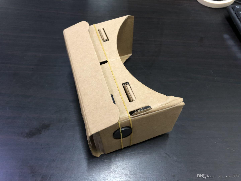 838 gafas 3D DHL Teléfono VR Lentes de bricolaje cartón Google Mobile Virtual Reality no oficial de cartón VR Kit de herramientas de 3D Glasses CCA1785 B-XY
