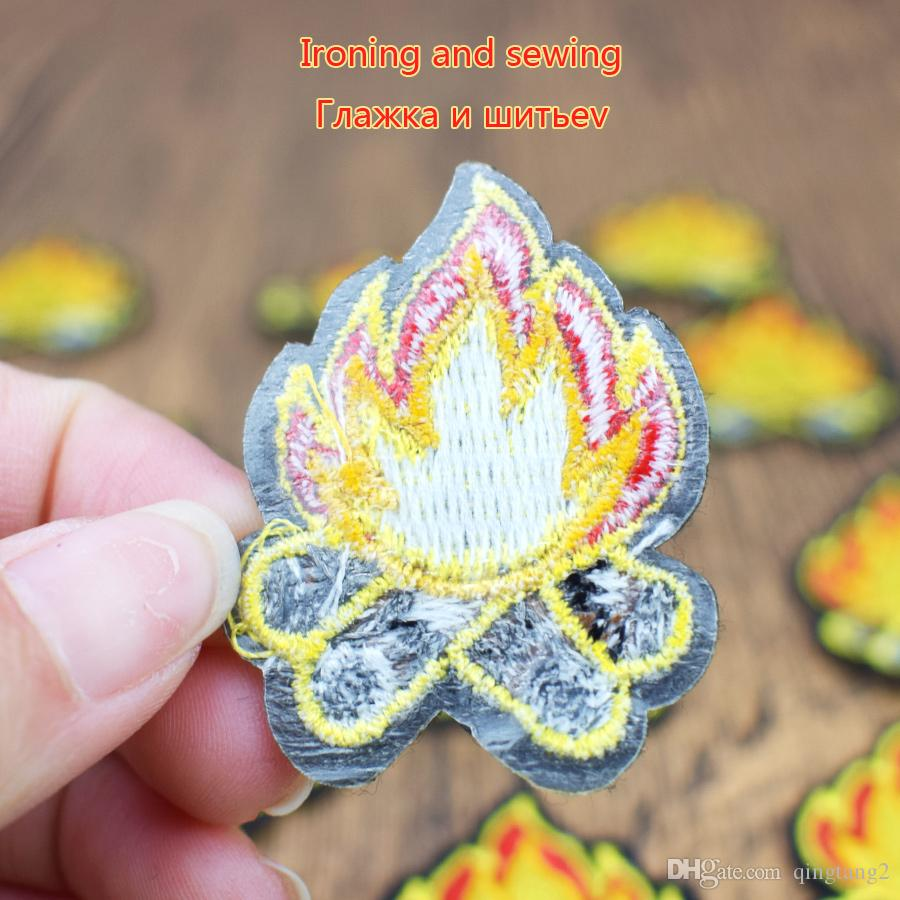 Torch Patches Cartoon Badges Embroidery Patches for Applique Ironing on Garment Sewing Supplies Decorative Clothing Patches DIY Craft