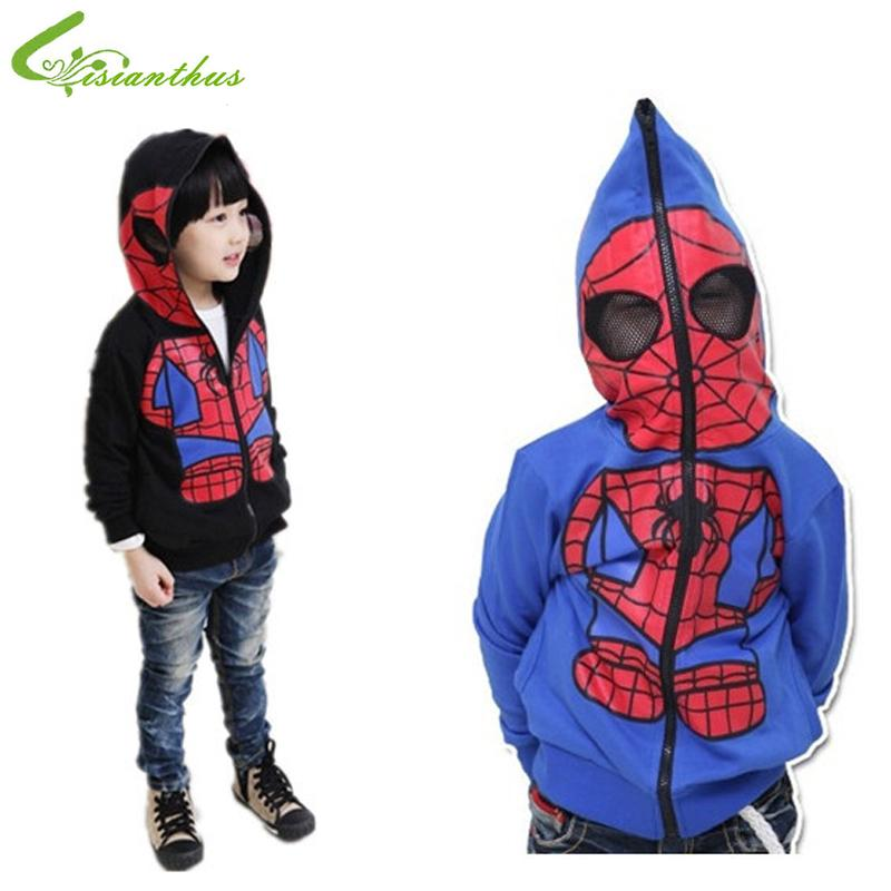 Boys Cartoon Jacket Children Spiderman Hoodie Baby Kids Cute Outerwear Clothing Coat Halloween Christmas Costume Free Shipping Y1892907